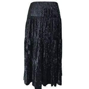 Copper Key Skirt Size Medium Black Velour Boho